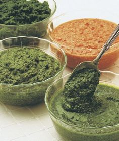 Don't stop with pesto Genovese. Other herbs make vibrant, tasty sauces, too.