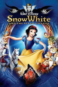 Walt Disney's Snow White Snow White and the Seven Dwarfs, My favorite princess! I was born on one of the re-release Snow White and the Seven Dwarfs, My favorite princess! I was born on one of the re-release dates! Snow White Movie, Snow White Disney, Classic Disney Movies, Disney Movies To Watch, Disneyland Movies, Disney Classics, Disney Movie Posters, Disney Cartoons, Disney Films