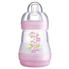 Mamadeira MAM First Bottle (160ml) Girls (0m+) MAM - Bebefacil.com.br - Tudo para o seu bebê!