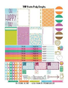 My Planner Envy: Garden Party Sampler - Free Planner Printable Free Planner, Happy Planner, Planner Ideas, Planners, Washi, Planner Organization, Organizing, Printable Planner Stickers, Erin Condren Life Planner
