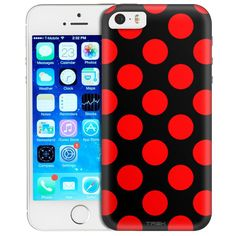 Apple IPhone SE Red Polka Dots Trans Case