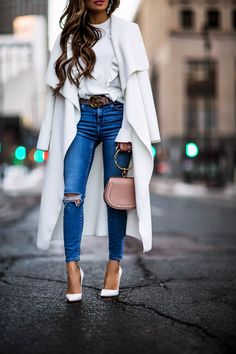 Chloe nile bag, gucci belt, white louboutin heels