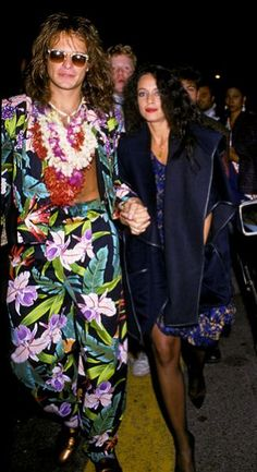 David Lee Roth and Sonia Braga arrive at the first annual MTV Video Music Awards, 1984