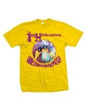 Jimi Hendrix Experience Yellow Mens T-Shirt