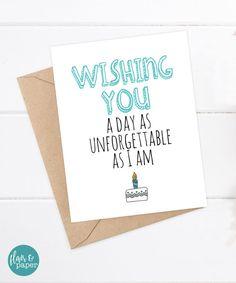 Funny Birthday Card  Boyfriend  Girlfriend Card  Funny