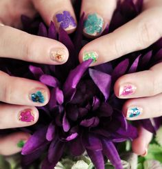 ...love Maegan: Floral Nails: DIY Real Dried Flowers Manicure | A Lifestyle Blog + Fashion + Beauty + DIY