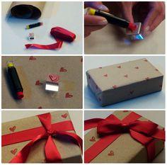 Presente craft para o dia dos namorados... fácil fácil de fazer e é uma lindeza só  http://saladamadame.com.br/2015/06/11/presente-craft-para-o-dia-dos-namorados/