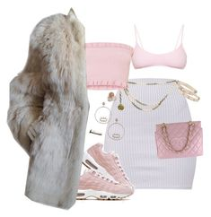 pinky by milean on Polyvore featuring polyvore fashion style Yves Saint Laurent Roxana Salehoun Chanel Cartier Bavna Ippolita clothing