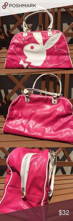 09e0236fc9 Playboy • Bunny Logo Medium Travel Bag Duffle Bag Preloved Condition Please  See Photos  amp