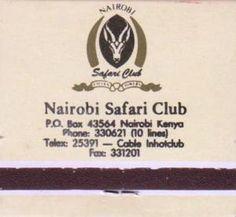 Nairobi Safari Club Matches Africa Art, East Africa, Nairobi City, School Holidays, Kenya, Rally, Colonial, Safari, Nostalgia