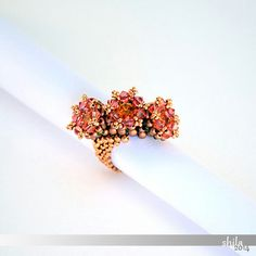step by step INSTANT download Pdf beading PATTERN Ring by shila66