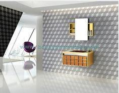 Glass Door Stainless Steel Bathroom Cabinet  Model No: BN-8411