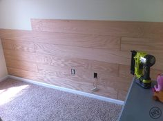 How to DIY a plank wall