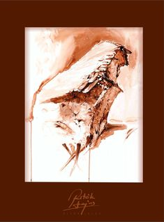 Ritók Lajos tus rajz, Ink work