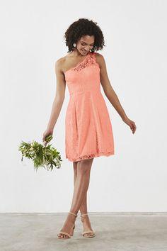 Weddington Way Zoe Bridesmaid Dress in Coral in Lace