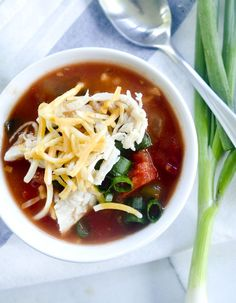 Weight Watchers Zero Point Tortilla Soup - Will be adding meat to this!
