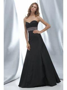 Taffeta Empire Strapless Sweetheart Floor-Length Bridesmaid Dress