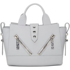 Kenzo Grey Mini Kalifornia Duffle Bag (630 CAD) ❤ liked on Polyvore featuring bags, handbags, grey, grey leather purse, gray leather purse, foldable duffle bag, mini duffle bag and leather duffle bag