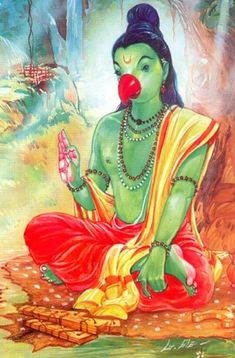 Shuka muni narrating srimad bhagavatam. Ganesha Art, Krishna Art, Lord Ganesha, Lord Krishna, Shiva Yoga, Shiva Shakti, Durga Images, Tanjore Painting, Krishna Photos