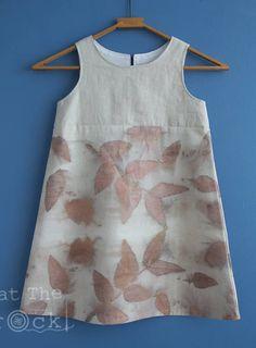 VENDEN Vestido de línea A las niñas impreso Eco eucalipto