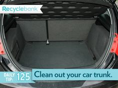 Clean out your car trunk for the best fuel efficiency.