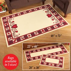 Country Heart Accent Rugs
