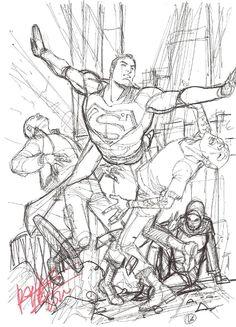 Superman prelim - Carlos Pacheco Comic Art