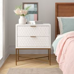 Have a peek here for Updating House White Nightstand, 2 Drawer Nightstand, Nightstands, White Bedside Tables, White Drawers Bedroom, Bedroom Furniture, Bedroom Decor, Wall Decor, Bedroom Night Stands