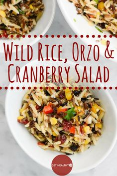 Rice Orzo & Cranberry Salad! It's the perfect hearty, healthy salad ...