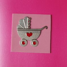 Pink Baby Card by onelittlepug on Etsy, $2.00