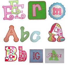 Simple Applique Monograms With Free Printable Letters  Applique