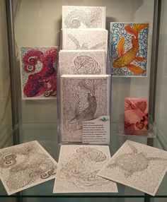 Gift set of 5 beautiful, intricate, fine art adult colouring postcards by Candy Medusa, Black Dwarf Designs. I find colouring in very relaxing and stress reducing, but in looking through adult coloring books I was unable to find anything with the fine detail I was looking for, featuring figurative rather than abstract art - so I made my own! So many colouring books on the market were just not suitable for pens because they bled through and ruined the design on the back of the page, plus…