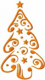 СChristmas tree free embroidery design. Machine embroidery design. www.embroideres.com