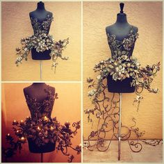 "574 Likes, 73 Comments - •FIORI• Susan Lafica (@fioricouture) on Instagram: ""ALEXANDER'S GARDEN ""After The Flowers Die""....... My FIORI Couture Corset is made of vintage…"""