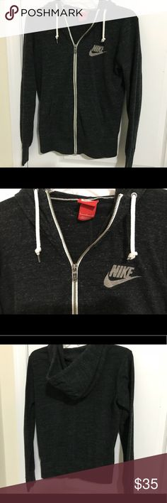 Nike hoodie Charcoal grey nike hoodie lightly worn like new Nike Tops Sweatshirts & Hoodies