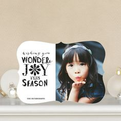Here's to a 'Wondrous Season!' These #Holiday Photo Cards feature a playful black and white design