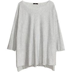 H&M Wide jumper ($13) ❤ liked on Polyvore featuring tops, sweaters, h&m, hm, long sleeves, light grey, light gray sweater, jumpers sweaters, extra long sleeve sweater and long sleeve tops