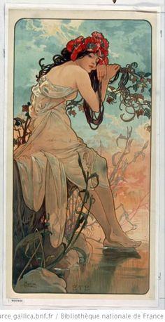 L'été by Alphonse Mucha from Les Saisons, 1896, Bibliothèque nationale de France