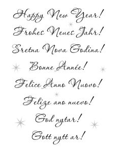happy new year in different languages httpbelle blancblogspot