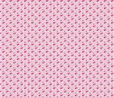 Pink Gingham Cherries fabric by vanityblood on Spoonflower - custom fabric