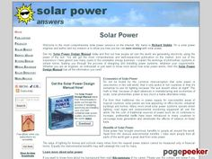 fantastic Become an expert in Solar Power