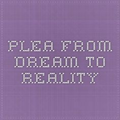 PLEA - From Dream to Reality