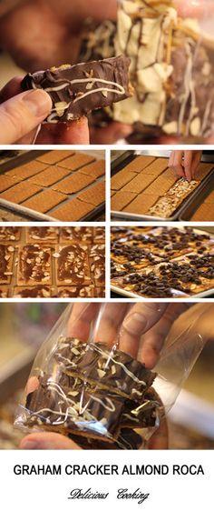Graham Cracker Almond Roca   Delicious Cooking
