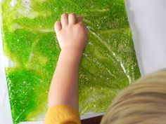 How to Make a Squishy Bag - great for practice at writing letters and numbers