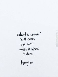Advice from Hagrid. This is perfect, and I need it in my life.
