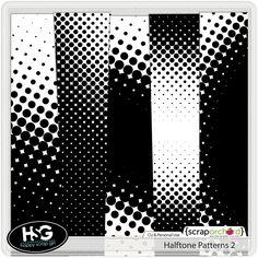 Half Tone Patterns 2 from Happy Scrap Girl Glass Film Design, Halftone Pattern, Digital Scrapbooking, Patterns, Happy, Block Prints, Ser Feliz, Pattern, Models
