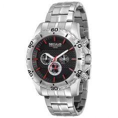 [ELETROMOB]Relógio Masculino Cronógrafo Seculus, Caixa De 4,8 Cm - R$179,91