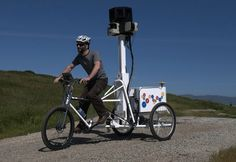 The Google Maps Trike captures areas inaccessible to the Google street cars
