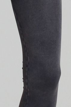 Close-up view of charcoal vintage dye Leggings