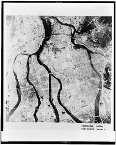 Aerial view of Hiroshima after the bomb.